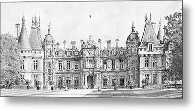 Waddesdon Manor Metal Print by Stuart Attwell