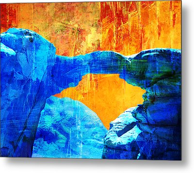 Wadi Rum Natural Arch 2 Metal Print by Catf