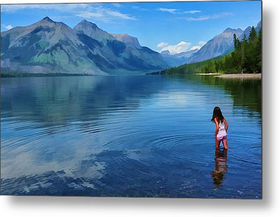 Wading In To A Dream Metal Print by Jeff R Clow