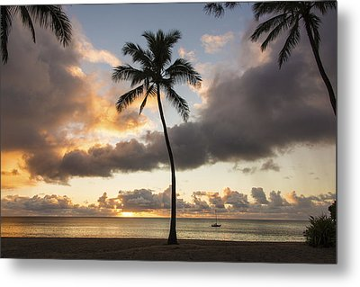 Waimea Beach Sunset - Oahu Hawaii Metal Print by Brian Harig