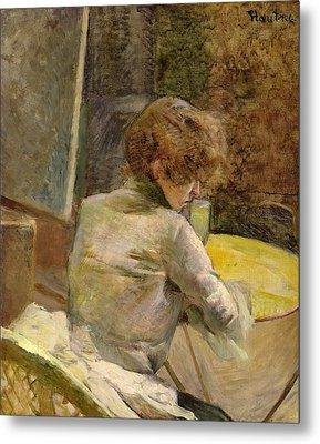 Waiting At Grenelle Metal Print by Henri de Toulouse-Lautrec