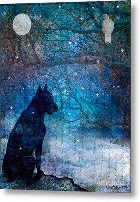 Waiting By The Night River Metal Print by Judy Wood