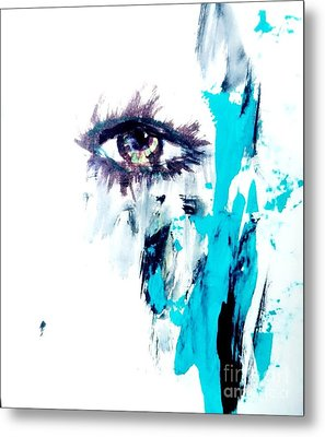 Waiting Eye Metal Print by Trilby Cole