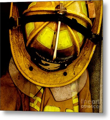 Waiting For Fire - Battalion 2  Metal Print by Steven  Digman