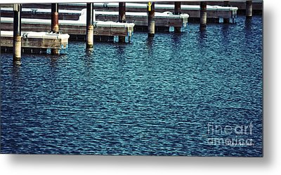 Waiting For Summer - Boat Slips Metal Print by Mary Machare
