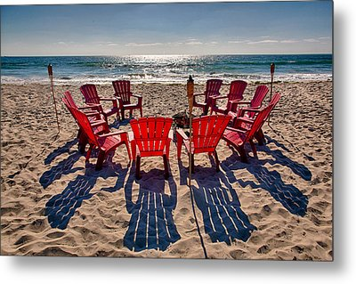 Waiting For The Party Metal Print by Peter Tellone