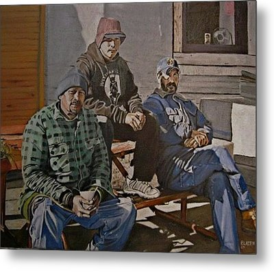 Waiting For Work Metal Print by Patricio Lazen