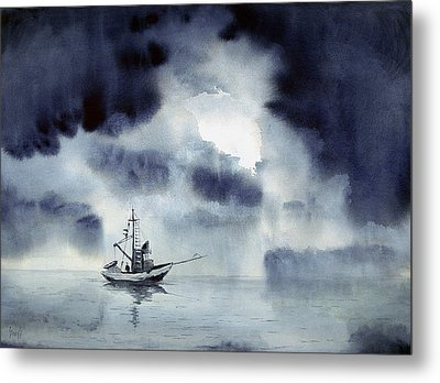 Waiting Out The Squall Metal Print by Sam Sidders