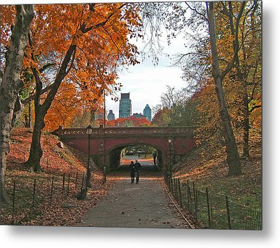 Walk In The Park Metal Print by Barbara McDevitt