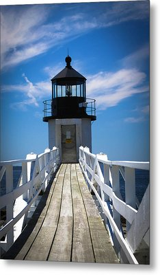 Walk Towards The Light Metal Print by Belinda Dodd