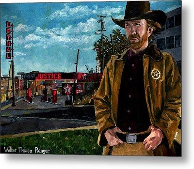 Walker Texaco Ranger - Lethal Justice Metal Print by Thomas Weeks