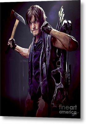 Walking Dead - Daryl Dixon Metal Print by Paul Tagliamonte
