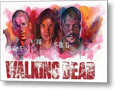 Walking Dead Dead Metal Print by Ken Meyer jr