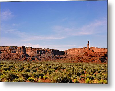 Walking In The Valley Of The Gods Metal Print by Christine Till