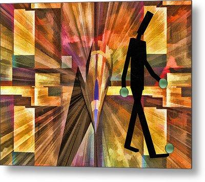 Walking Man Metal Print by Robert Maestas