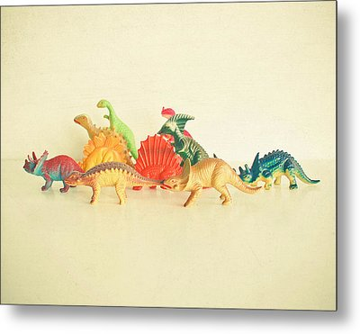 Walking With Dinosaurs Metal Print by Cassia Beck