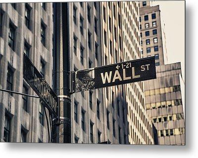 Wall Street Sign Metal Print by Garry Gay
