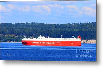 Wallenius Wilhelmsen Logistics Tamerlane Ship Metal Print by Tap On Photo