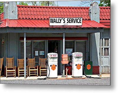 Wally's Service Station Mayberry Nc Metal Print by Bob Pardue