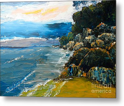 Walomwolla Beach Metal Print by Pamela  Meredith