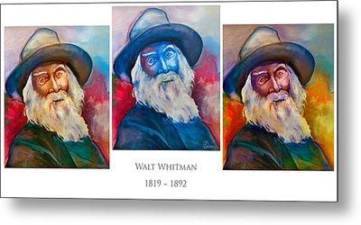 Walt Whitman Poster Metal Print by Robert Lacy