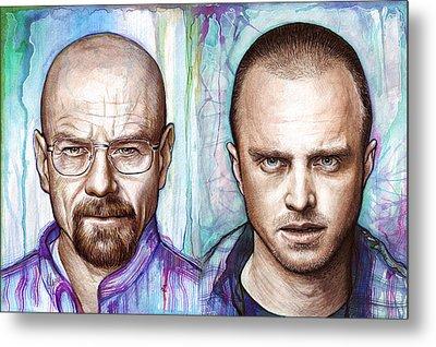 Walter And Jesse - Breaking Bad Metal Print by Olga Shvartsur