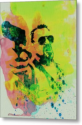 Walter Metal Print by Naxart Studio