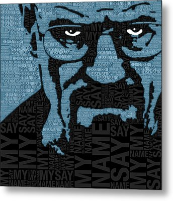 Walter White Heisenberg Breaking Bad Metal Print by Tony Rubino