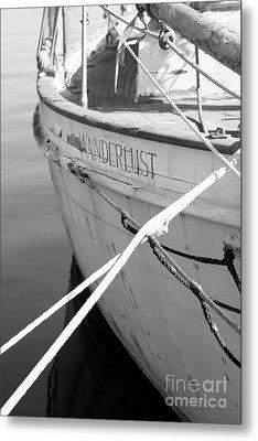 Wanderlust Black And White Metal Print by Amanda Barcon