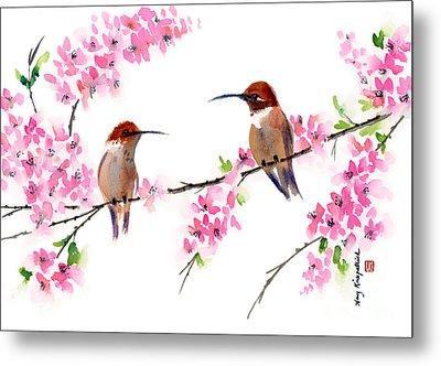 Hummingbirds Metal Print by Amy Kirkpatrick