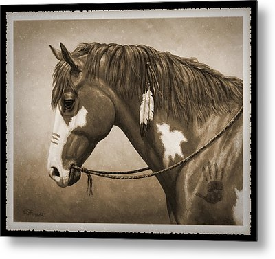 War Horse Old Photo Fx Metal Print by Crista Forest