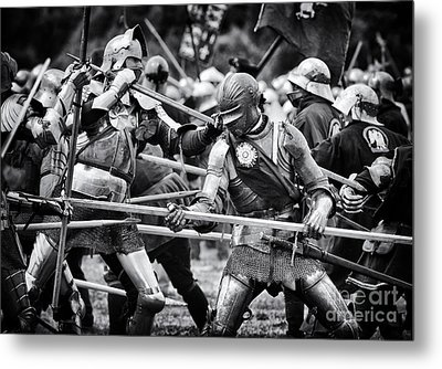War Of The Roses Medieval Knights  Metal Print by Tim Gainey