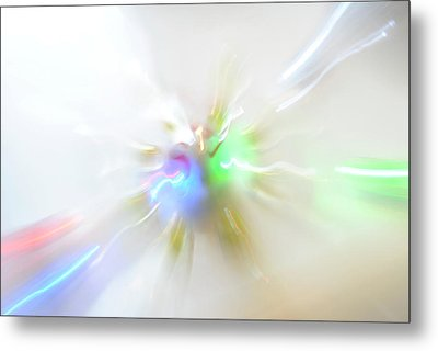 Warp Lights Metal Print by Frederico Borges