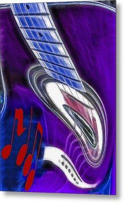 Warped Music 2 Metal Print by Steve Ohlsen