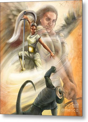 Warrior Metal Print by Tamer and Cindy Elsharouni