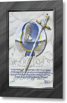 Warriors Triumphant With Faux Matte Metal Print by Cliff Hawley