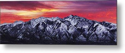 Wasatch Sunrise 3x1 Metal Print by Chad Dutson