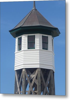 Wash Woods Coast Guard Tower Metal Print by Cathy Lindsey