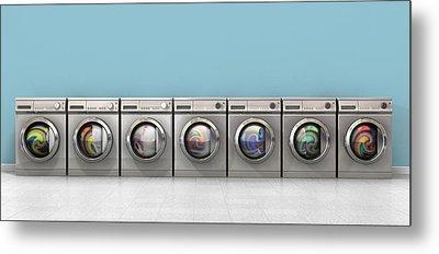 Washing Machine Full Single Metal Print by Allan Swart