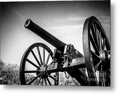 Washington Artillery Park Cannon In New Orleans Metal Print by Paul Velgos