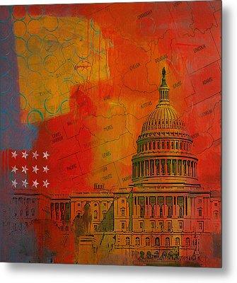 Washington City Collage Alternative Metal Print by Corporate Art Task Force