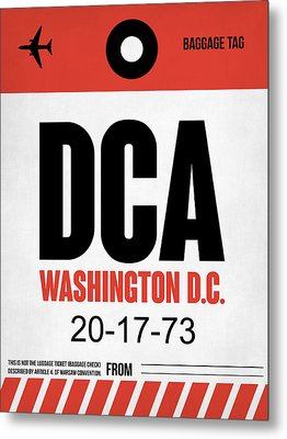 Washington D.c. Airport Poster 1 Metal Print by Naxart Studio