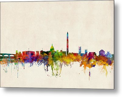 Washington Dc Skyline Metal Print by Michael Tompsett