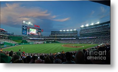 Washington Nationals In Our Nations Capitol Metal Print by Thomas Marchessault