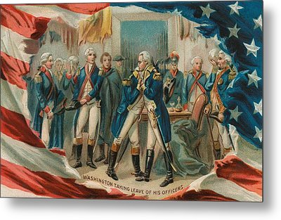 Washington Taking Leave Of His Officers Metal Print by Anonymous