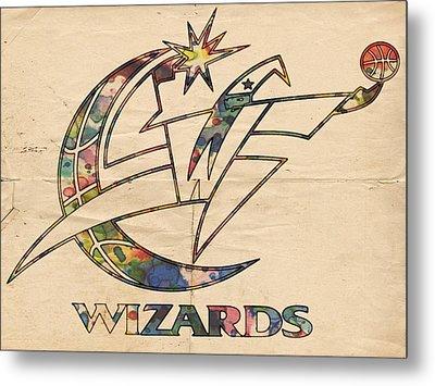 Washington Wizards Poster Art Metal Print by Florian Rodarte