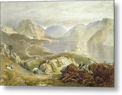 Wast Water, From The English Lake Metal Print by James Baker Pyne