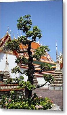 Wat Pho - Bangkok Thailand - 011323 Metal Print by DC Photographer
