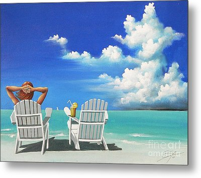 Watching Clouds Metal Print by Susi Galloway