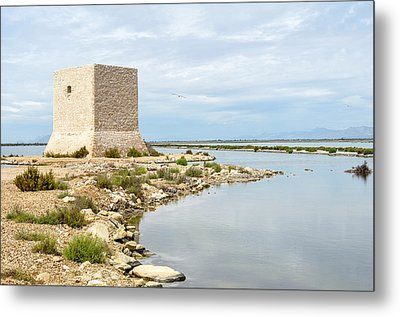 Watchtower In The Salt Lakes Metal Print by Tetyana Kokhanets
